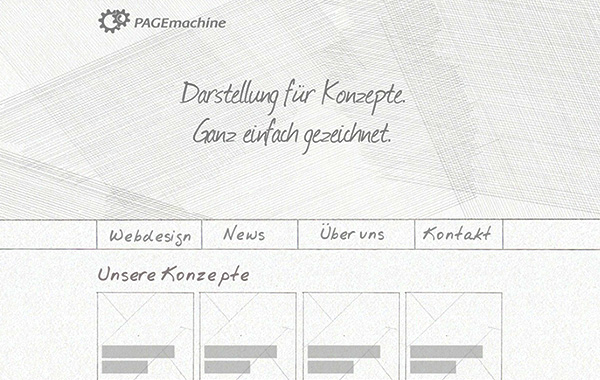 Wireframing Blindtext-Fonts im Pagemachine Blog