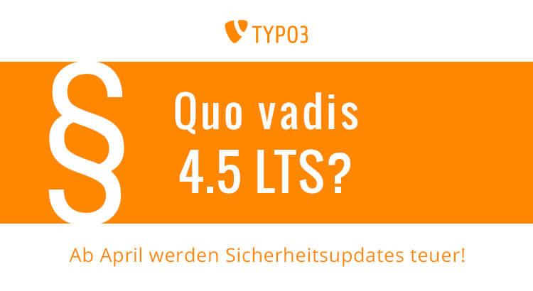 TYPO3 4.5 Supportverlängerung im Pagemachine Blog