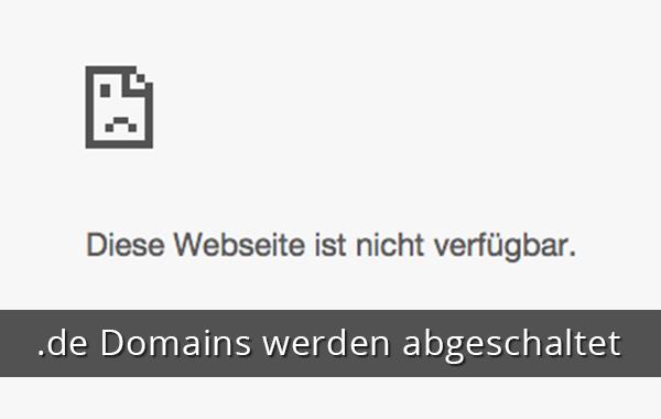 Denic schaltet .de Domains ab im Pagemachine Blog